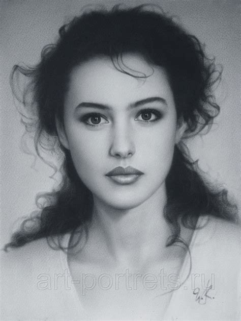 monica bellucci portrait 摘抄我看过的文章 top model and actress monica bellucci