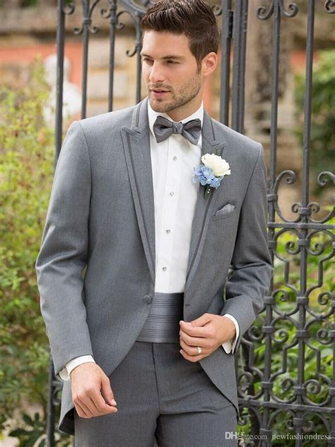 gray groom tuxedo   2016 Groomsmen   Tuxedo wedding, Grey