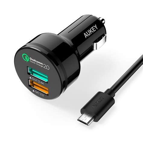 2 Port Car Charger by Deal Alert Aukey Charge 2 0 Dual Port Usb Car