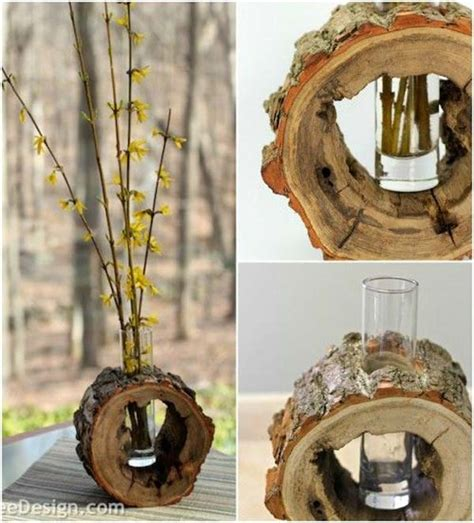 Diy Wood Vase by 24 Beautiful Decorative Vases Made From Tree Stump