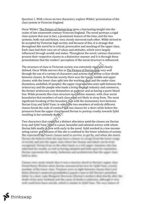 Dorian Gray Essay Topics by Dorian Gray Extended Essay Year 11 Wace Literature Thinkswap