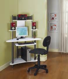 Small Kid Desk Pewter Finish Corner Workstation Childrens Computer Desk Small Desk To Fit In Corners