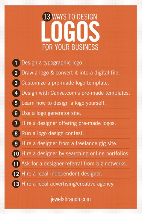 design your logo yourself 13 ways to design logos for your business jewels branch