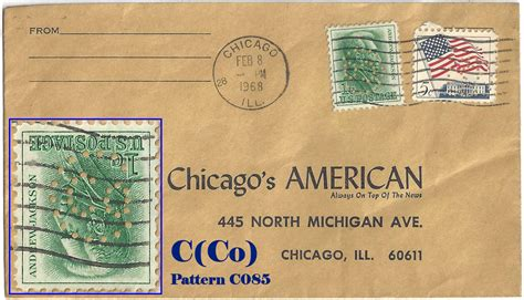 Chemical Bank Cadillac Mi by U S Perfin Covers Quot C Quot Patterns