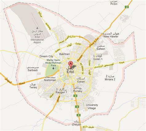 map kurdistan iraq map of erbil map iraq erbil map hawler travel