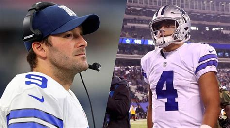 tony romo bench press dallas cowboys addressed talk of benching dak prescott for