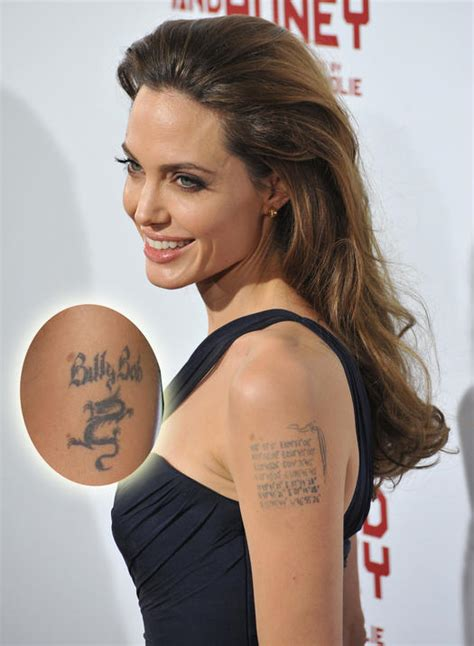 angelina jolie upper arm tattoo 100 celebrities tattoos david beckham best