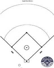 Baseball Field Template by Baseball Diagrams And Templates Free Printable Drawing
