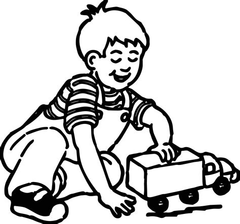 kids playing truck coloring page wecoloringpage