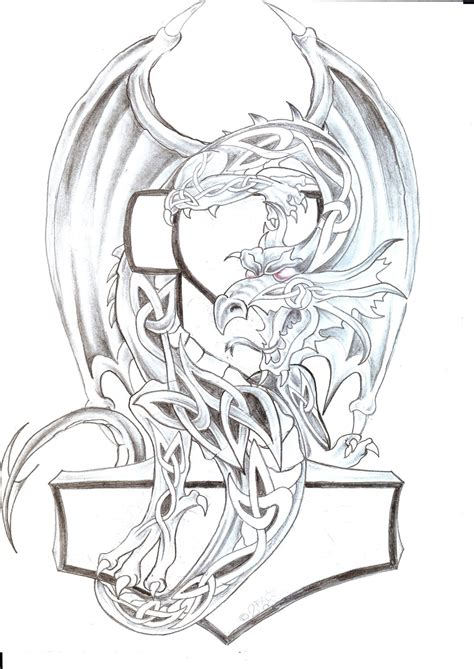 celtic dragon tattoo design celtic th design by 2face on deviantart