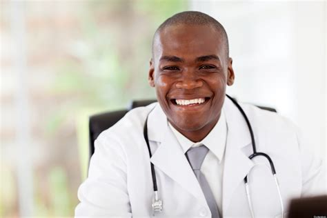 dr black doctor appearance mds in white coats names tags