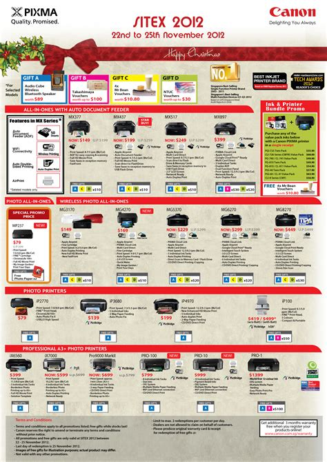 canon price list sitex 2012 canon promo and price lists the post