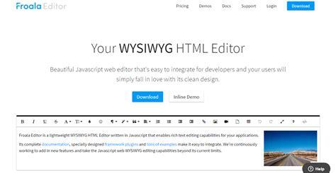 best wysiwyg html editor 20 of the best wysiwyg html editors simplefreethemes