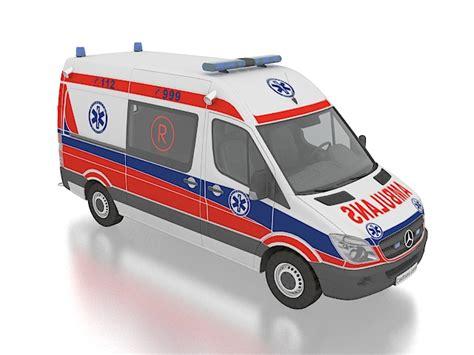 Interior Plant Wall Mercedes Benz Ambulance Sprinter 3d Model 3ds Max Files