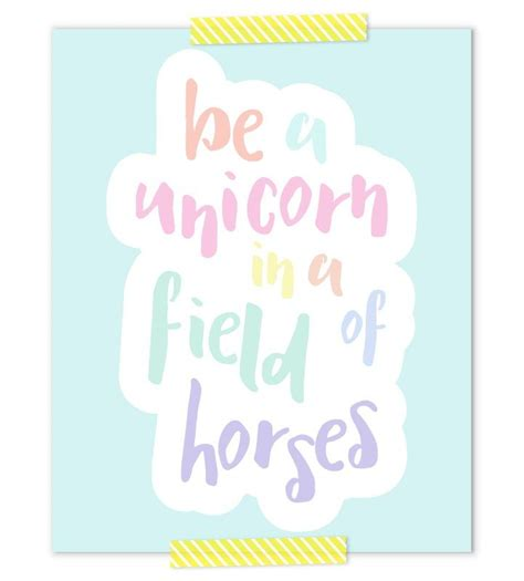 Printable Unicorn Quotes | november subscriber only freebie unicorn nursery art
