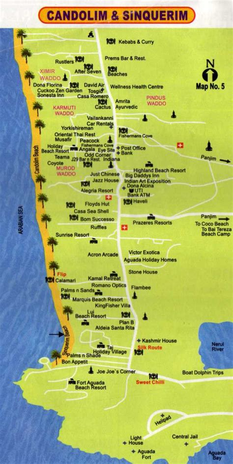 resort goa map detail candolim goa india location map