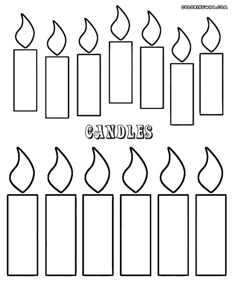 coloring pages cake with candles candle coloring pages coloring pages to download and print