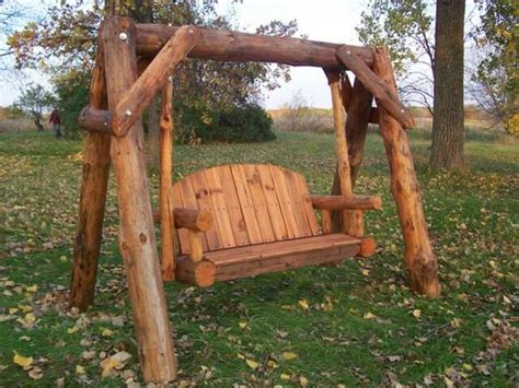 log swing plans i have a wonderful log swing made by marisa enterprises