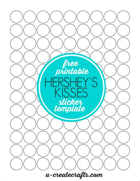 How To Make Hershey Kisses Stickers Free Sticker Templates