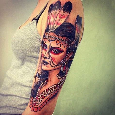 old school tattoo indian girl 25 native american tattoo designs native american