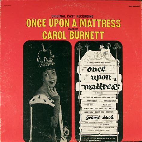 Song Of Once Upon A Mattress by Carol Burnett Once Upon A Mattress Vinyl Lp Album At