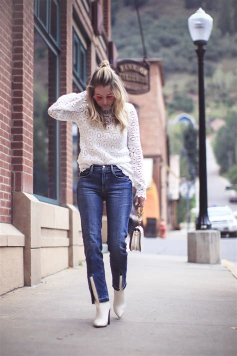 to wear with boots how to wear white boots fashion erin busbee
