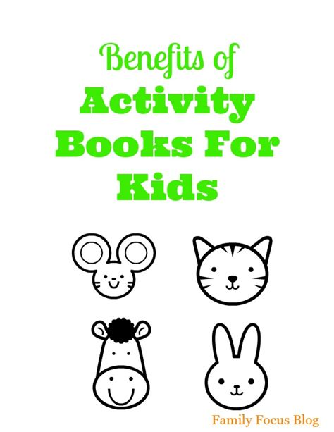 benefits of picture books for children benefits of activity books for family focus