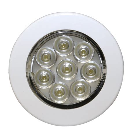 flush mount led lights 12v ecco ew0220 interior lighting 7 led round flush mount w
