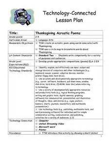 thanksgiving lesson plans 2nd grade thanksgiving acrostic poems 2nd 4th grade lesson plan