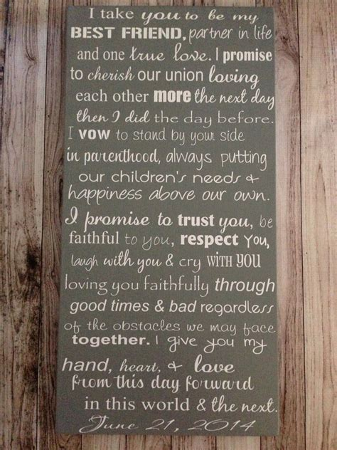 Personalizing Your Wedding Vows by Custom Wedding Vows Wood Sign 12 X 24 Personalized