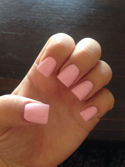nail in mod about you opi nail light pink acrylic nails