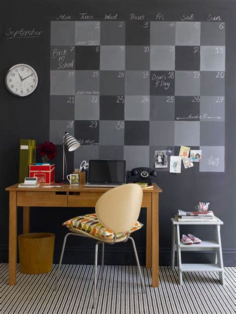 diy chalkboard wall calendar 15 genius diy wall calendar projects home design and