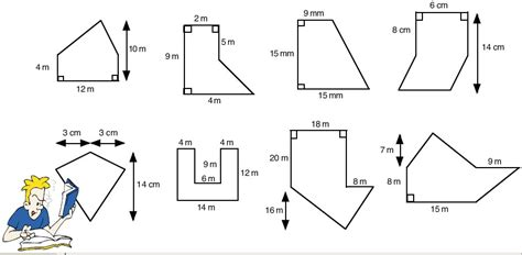 Area Of Shapes Worksheet by Shape Maths Teaching