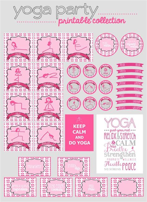 printable yoga journal yoga party printable collection 15 00 via etsy kids