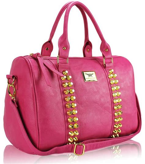 The Pink Bag wholesale bag l s fashion pink stunning studded barrel