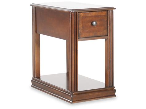 traditional accent tables rectangular traditional chairside accent table in medium