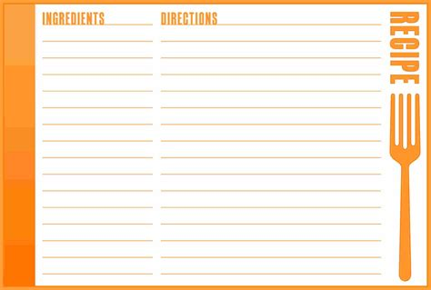 Word Card Editable Template by 3 4 Recipe Template For Word Slenotary