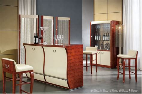 Living Room Bar Sets with Italian Design Home Furniture Bar Set Bar Table Bar Chair Wine Cabinet Modern Living Room