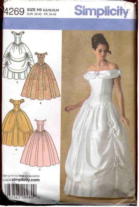 pattern for belle s yellow dress belle costume pattern simplicity 4269 diy pinterest