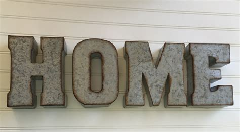 decorative metal letter you home wall letter sign