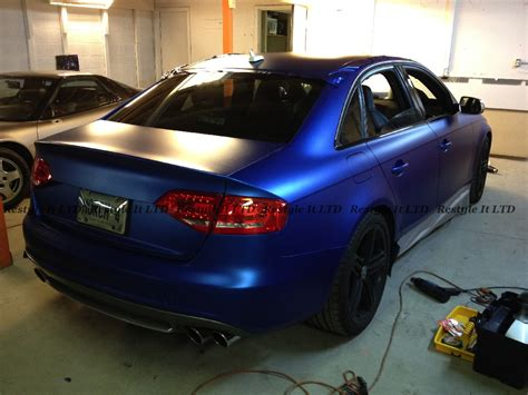 matte blue audi s4 wrapped in matte metallic blue autoevolution