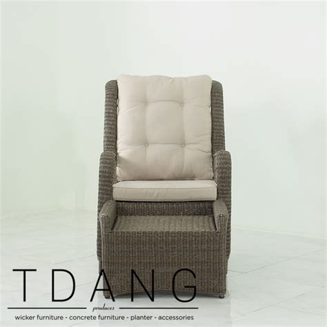 Elise Relax Wicker Chair With Ottoman Tdang Furniture Wicker Chair With Ottoman