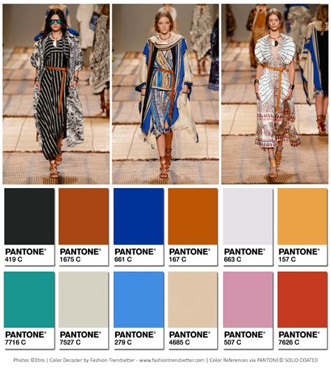 etro springsummer  collection color codes fashion