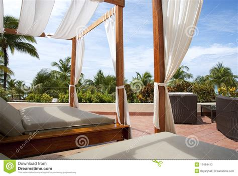 Outdoor Cabana Bed by Outdoor Cabana Beds In The Tropics Stock Photos Image 17484413