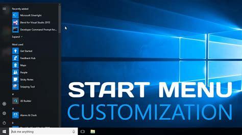 windows 10 tutorial start menu windows 10 how to customize start menu easy tutorial
