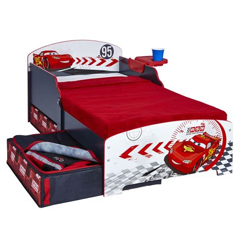 toddler bed cars disney cars junior toddler bed storage shelf new boxed