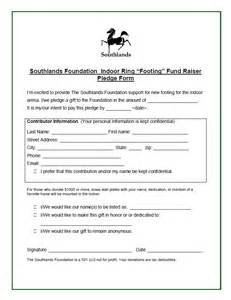 Fundraiser Pledge Form Template by Indoor Ring Fundraiser Pledge Form Southlands Foundation