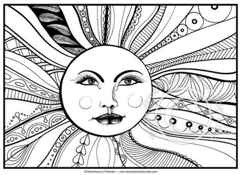 coloring pages for adults sun color dimensions of wonder