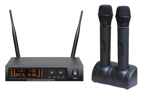 Mic Wireless Doubel Sound Uhf Dielngkapi Lcd Display 670s pro dual wireless microphone system uhf fixed frequency lcd digital display 2mics
