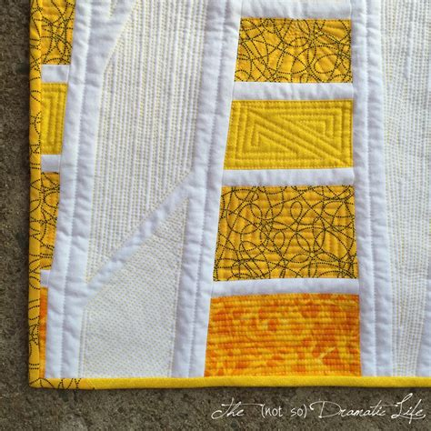 Yellow Quilt Yellow Rays Mini Quilt 23 The Not So Dramatic